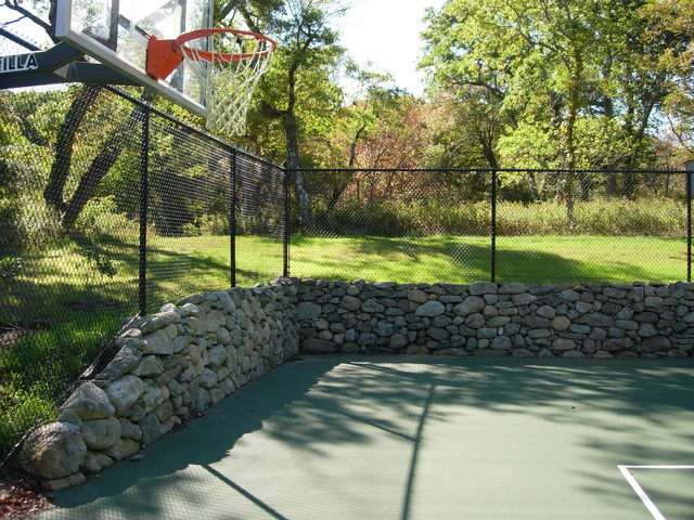 Residential Tennis Construction traditional-landscape