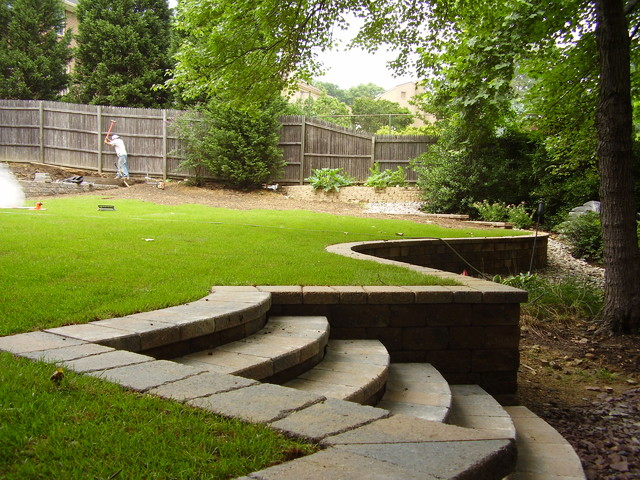 retaining wall traditional landscape dc metro by metro