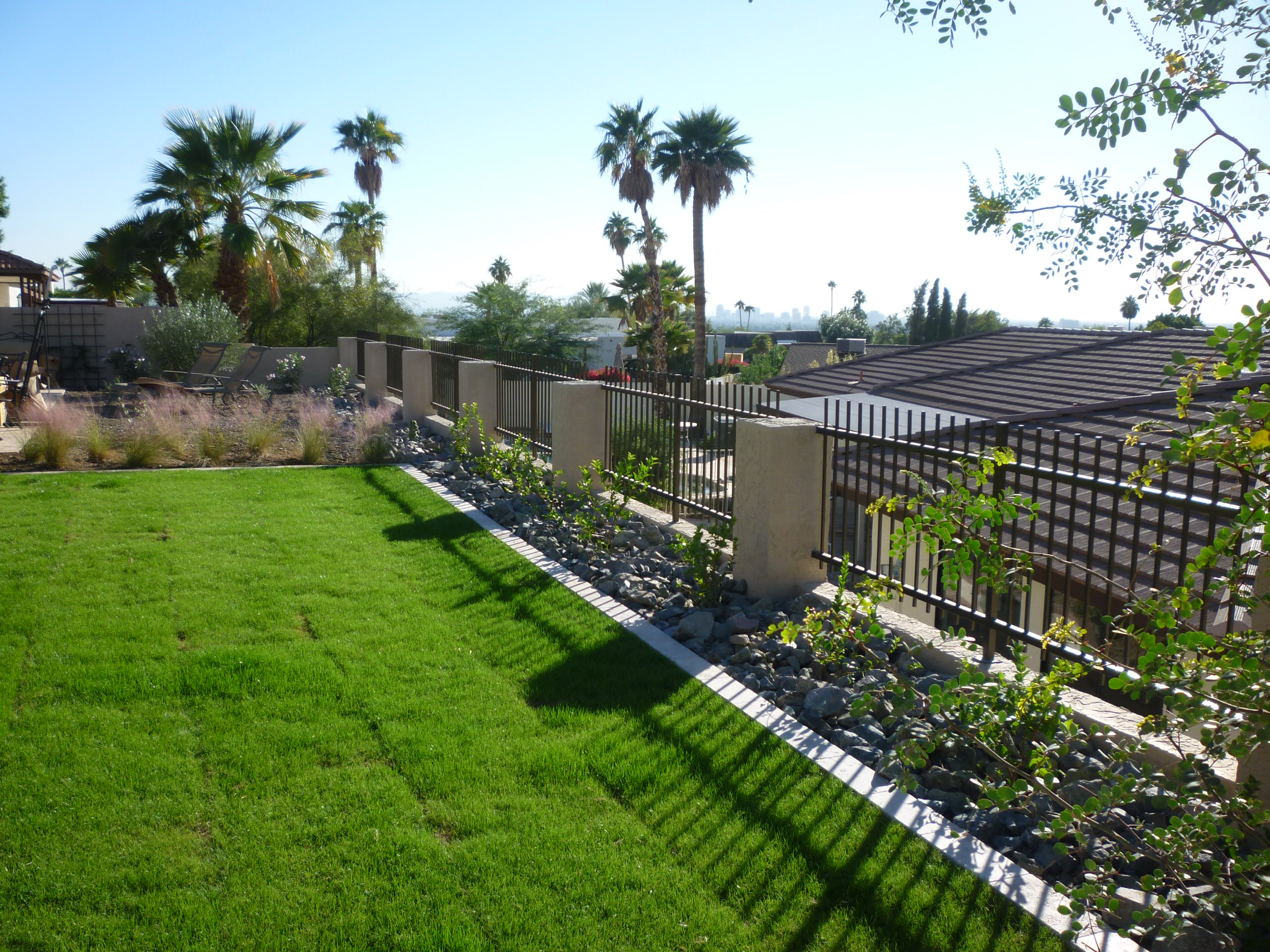 Retaining Wall w/ View Fence