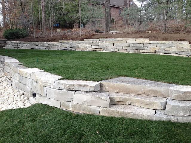 Retaining Wall Landscape Lights : Retaining Walls & Landscape Lighting - Landscape - other metro - by Integrity Landscape Services LLC
