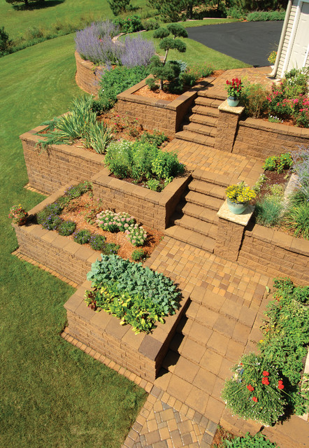 Retaining Walls - Traditional - Landscape - Minneapolis - By Versa