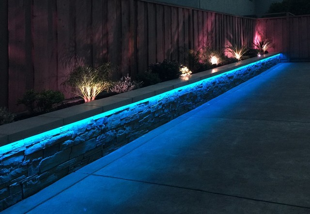 new arrival 3d6f1 c4d2c RGB LED Strip Landscaping Lights - Contemporary - Garden ...