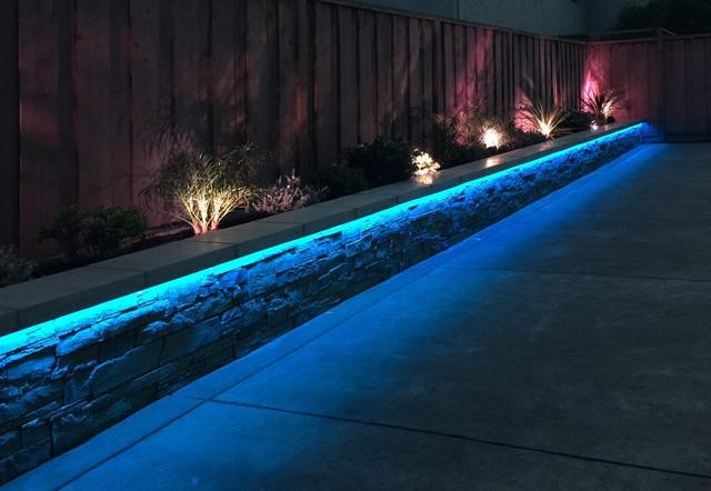 garden led lights. rgb led strip landscaping lights contemporary-garden garden led