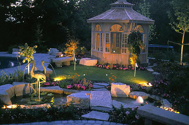 Richmond hill landscaping ideas gazebo and pool transitional landscape