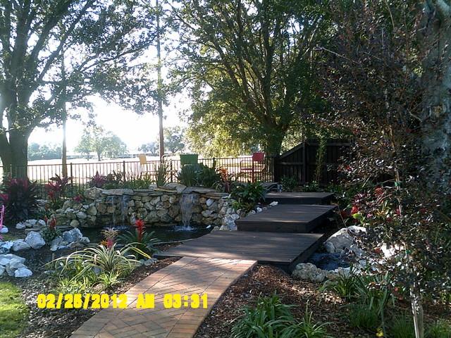 Rio pinar back yard retreat traditional landscape for Landscape design orlando