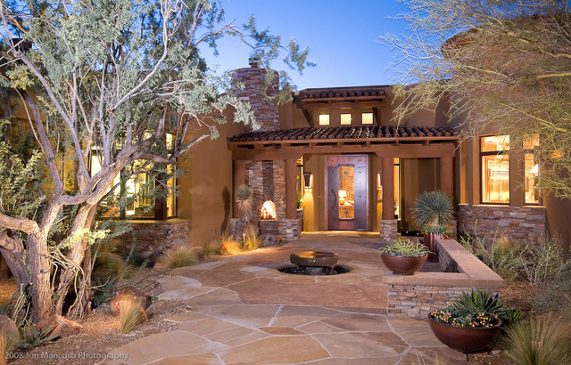 Ritz model homes southwestern landscape phoenix by for Garden entrance designs