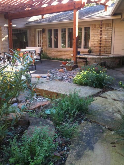 River rock garden eclectic landscape dallas by for Landscaping rocks dallas