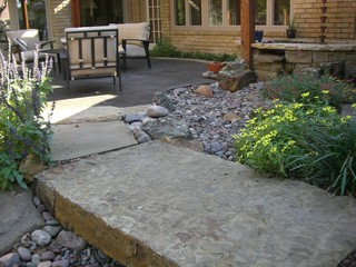 River Rock Garden Eclectic Landscape Dallas By