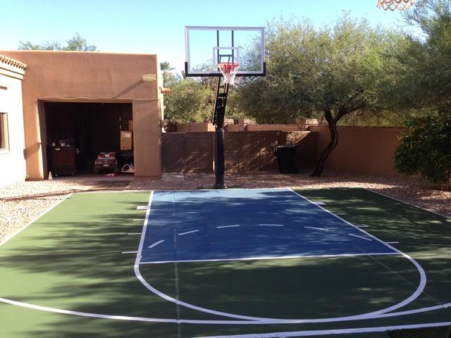 Robert L S Pro Dunk Platinum Basketball System On A 25x25