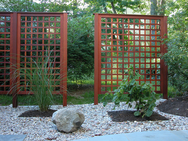 Rock garden for Japanese garden trellis designs