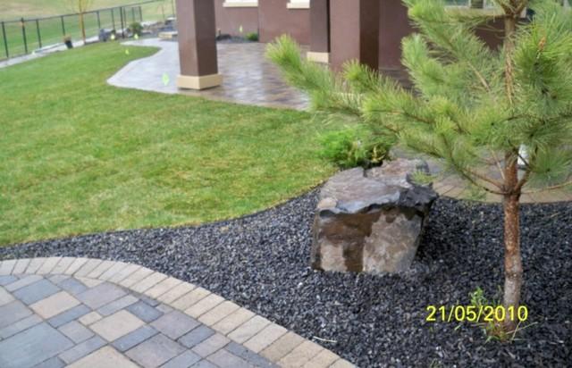 Rock Lake Calgary Estate Home Landscaping Modern Landscape
