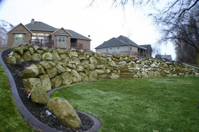 Rock walls for Landscaping rocks in salt lake city