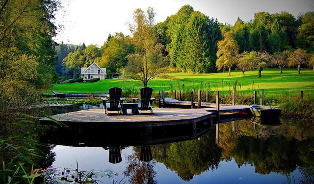 Romantic country garden eclectic-landscape