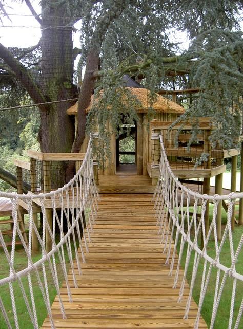rope bridge - traditional - landscape - london -treehouse wizards