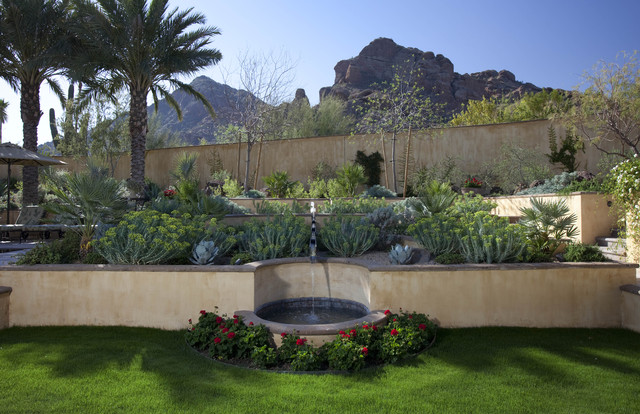 Runnel fountain mediterranean garden phoenix by for Garden fountains phoenix