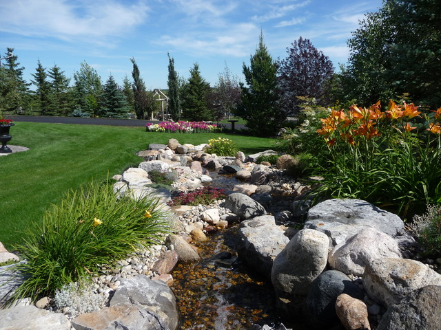 Rural country estate traditional landscape calgary for Landscape design calgary