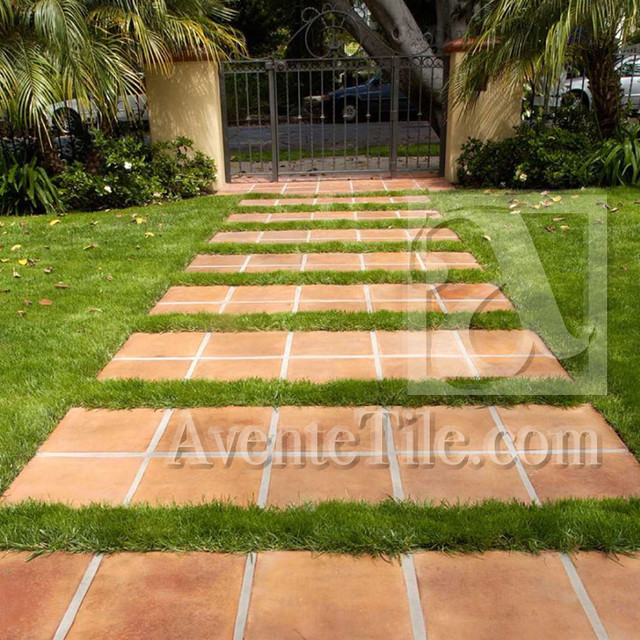 Rustic Pavers for the Walkways and Paths Mediterranean