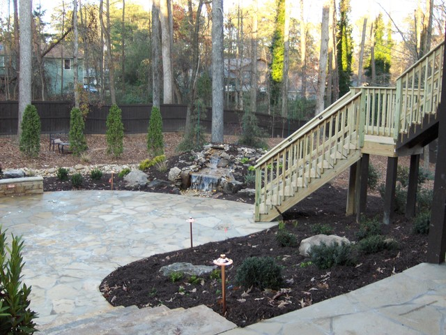 landscape hardscape and water feature project traditional landscape
