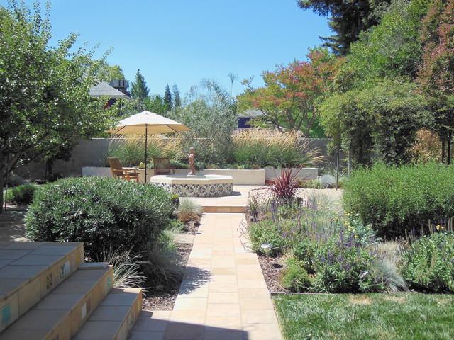 sacramento mediterranean garden mediterranean landscape sacramento by wildflower. Black Bedroom Furniture Sets. Home Design Ideas