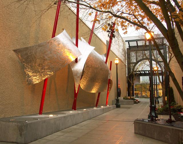 Sails Metal Sculpture Modern Landscape Seattle By