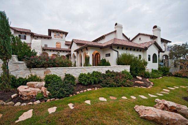 Santa barbara style in austin mediterranean garden Garden homes austin
