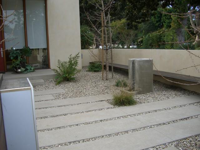 Santa monica green modern modern landscape los angeles by environmental concept - Slab pathway design ideas ...