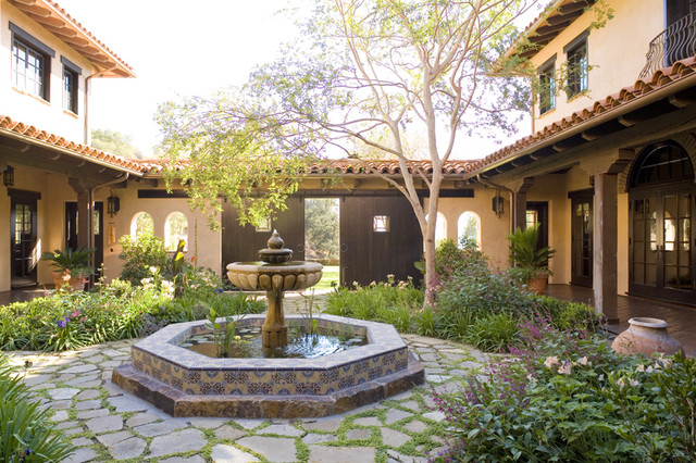 Spanish Style House Plans With Courtyard Also Ranch House Plans With