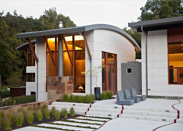 Saratoga Creek House Landscape modern-landscape