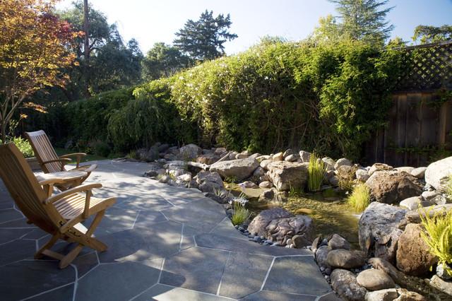Saratoga Jewelbox Custom Home traditional-landscape