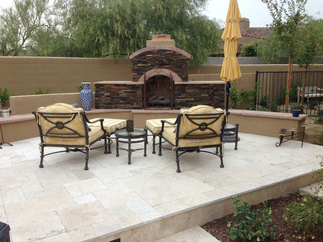 Scottsdale Landscape Design Backyard Renovation : Myers Project  Traditional Landscape
