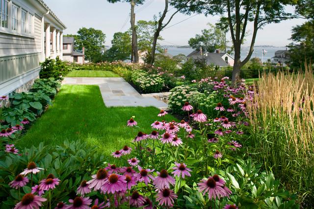 Seaside Hilltop Traditional Landscape Boston By