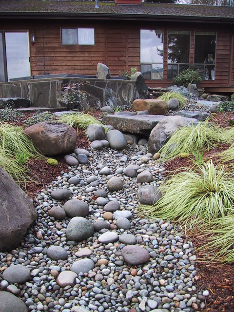 Seasonal stream bed Eclectic Landscape seattle by
