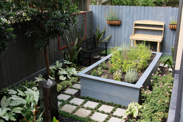 Secluded bellaire garden landscape eclectic landscape for Secluded backyard ideas