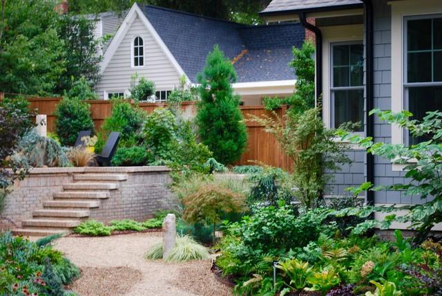 Bild på en funkis trädgård