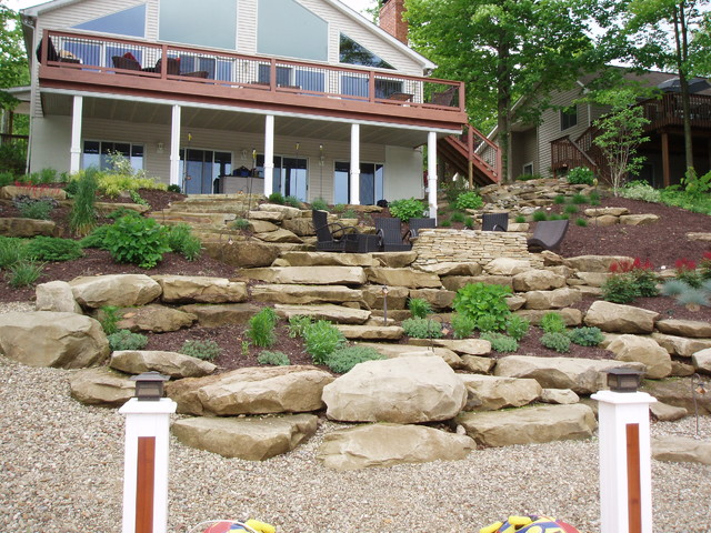 severe hillside landscape natural stone ledge rock
