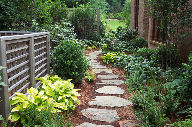 shade garden design traditional landscape - Garden Landscaping Design