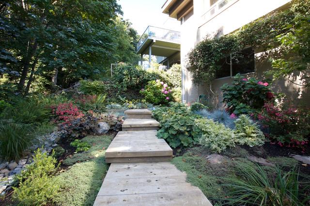 Shade Garden Contemporary Landscape Vancouver By Garden Culture Victoria