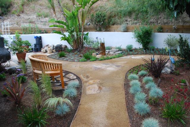 Shadow hills backyard retreat mediterranean landscape for Mediterranean style garden design ideas