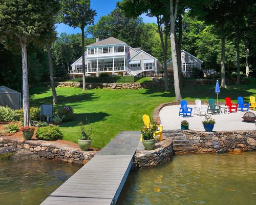 luxury beach house or lake house