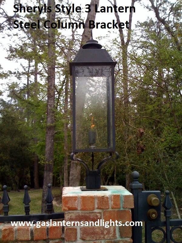 Sheryl's Gas Lantern on Top of Columns