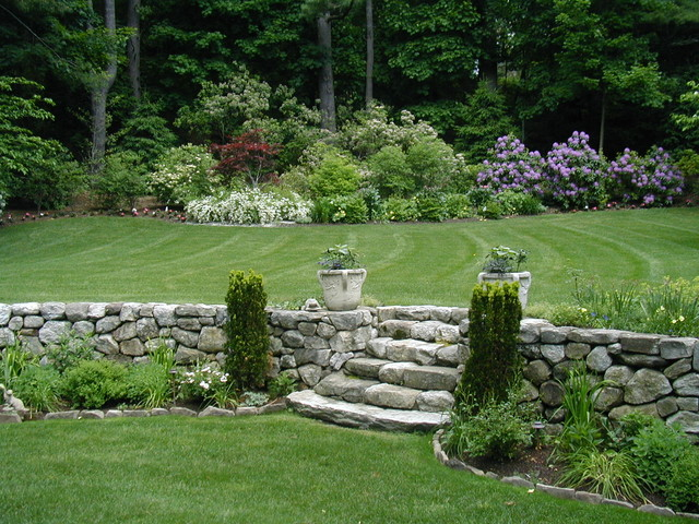 Shingle style landscape renovation victorian landscape for Victorian garden walls designs