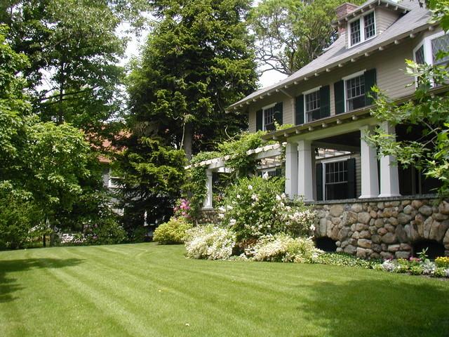 Shingle Style Landscape Renovation traditional-landscape