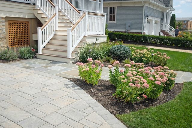 Shore home beach style landscape new york by by for Beach house landscape design