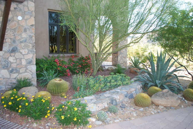 Desert Landscape Design Ideas design ideas for a southwestern front yard xeriscape in phoenix Desert Garden Home Design Photos