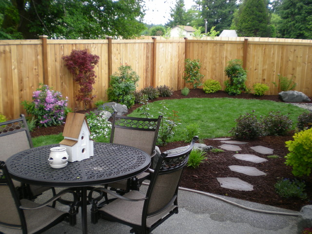 Small backyards - Traditional - Landscape - Seattle - by Puget Sound Landscaping, Inc.