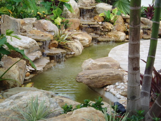Small garden waterfalls tropical landscape other for Waterfall design for small garden