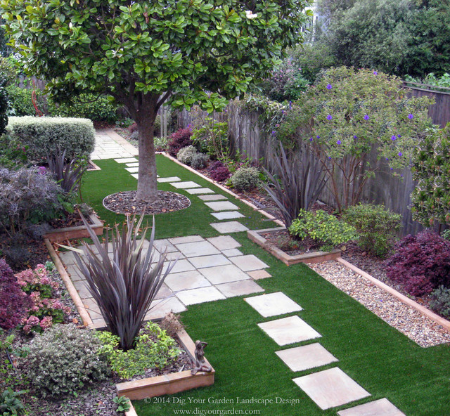 Small san francisco back landscape contemporary for Eco landscape design
