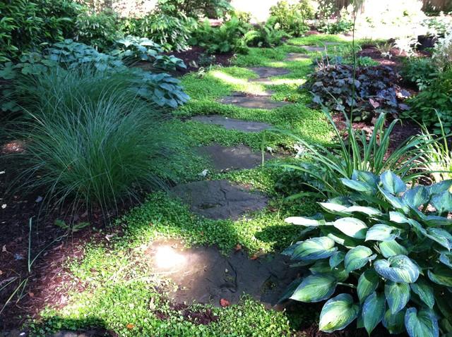 Small Shady Backyard Traditional Landscape New York By