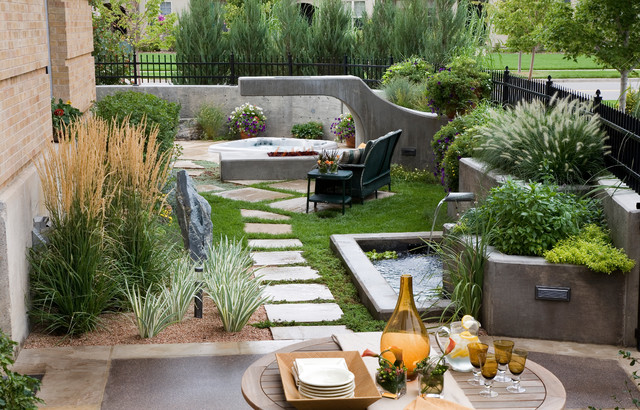 Small Space Comfort - Contemporary - Landscape - denver - by Phase One ...