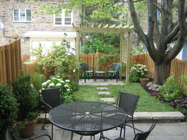 Small space transform traditional style with pergola traditional landscape philadelphia - Landscaping for small spaces gallery ...